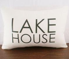 Lake House Cushion Cover  by Sarah Smile Design
