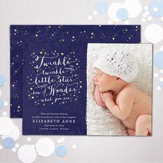 Little Star Birth Announcement New Baby Photo by BanterandCharm, $47.00