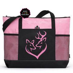 897cc075ad Cerf coeur Couple zippée Tote Bag - Sac de sport, sac de plage, cadeau  chasseur, Camping fourre-tout, sac de fille du Sud, pays l'amour, sac pour  ordinateur ...