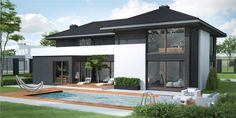 5 family homes that promises suburban bliss Flat Roof Design, Gable Roof Design, Wooden Cladding, Outdoor Living Areas, Architecture Plan, Home Fashion, Home Projects, Home And Family, Family Homes