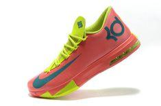 2f120061f1e KD VI Spring Summer Pinkfire Team Orange Lime Green Volt Cheap Nike Running  Shoes