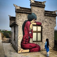 Something new from Seth GlobePainter in China #streetart #china @seth_globepainter