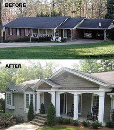Adding A Porch To A Ranch House Google Search Home Decor
