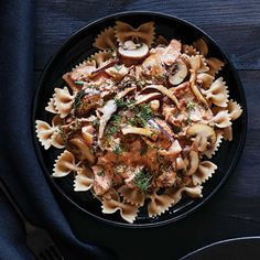 Creamy Cashew Mushroom Stroganoff. Blending cashews with lemon juice and hot water creates a luscious 