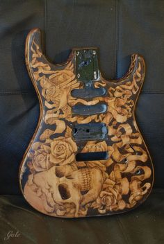 05 by Gatc on DeviantArt Guitar Art Diy, Guitar Painting, Guitar Tips, Cool Guitar, Beautiful And Twisted, Guitar Images, Unique Guitars, Guitar Building, Guitar Design
