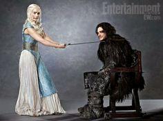 Game of Thrones: EW Portraits - Emilia Clarke and Kit Harington (Daenerys Targaryen & Jon Snow)