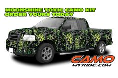 NEW! #MoonsineCamo #Toxic pattern. Get your Camo Kit at www.CamoMyRide.com