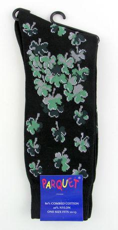St. Patrick's Day Mens Socks Novelty Fun Black Dress Casual Fashion Gift Him New #Parquet #Novelty