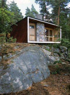 """""""The Box"""", propriété privée, de l'architecte Ralph Erskine, 1941-42, à l'extérieur de Stockholm,"""