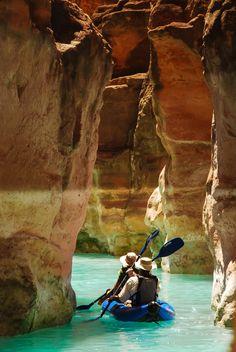 paddling down the Grand Canyon