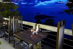 Our beautiful Koh Chang resort has two restaurants. Seen here is our clifftop Lighthouse restaurant on Koh Chang, where you can dine while enjoying spectacular views of the Gulf of Siam.