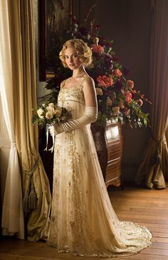 04323fd836a Spoiler Alert  Rose s Wedding - Season 5 Episode 8 Lily James Downton  Abbey