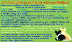 [EN] Is it forbidden to be friends with non-Muslims?