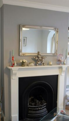 chimney breast in Warm Pewter - Dulux