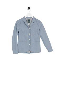 Lettorina Jacket blue mini-check Mini, Check, Cotton, Jackets, Blue, Tops, Women, Fashion, Down Jackets