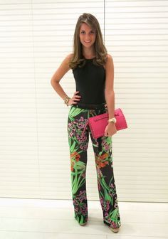 Blog da Andrea Rudge pantalón floreado