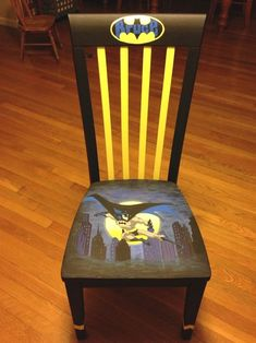 Herman Miller Aeron Chair Size C Painted Wooden Chairs, Hand Painted Furniture, Funky Furniture, Art Furniture, Graffiti Furniture, Round Back Dining Chairs, Modern Dining Chairs, Chair Makeover, Furniture Makeover