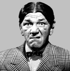 Shemp Howard (March 11 1895 - Nov 22 1955)  He was the brother of fellow stooges Moe Howard and Curly Howard. Larry Fine was not related to any of the other stooges. When not working with The Three Stooges, Shemp made a lot of feature film appearances, such as The Bank Dick (1940) with W.C. Fields. Shemp, Moe, Larry and Curly appeared in only one short together -- Hold That Lion! (1947). In it, Curly appears as an uncredited train car passenger. Watch for the man with the hat on his face.