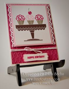 Stampin' up - A Cherry on Top Birthday Card