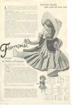PAR AMOUR DES POUPEES :: M&T 1951-04 Tenue de demi-saison pour Françoise (couture)