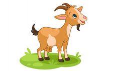 Cute little happy goat cartoon vector illustration Vector Baby Cartoon Drawing, Cartoon Drawings, Cabras Animal, Goat Picture, Goat Cartoon, Happy Goat, Alphabet Pictures, Cute Goats, Water Drawing