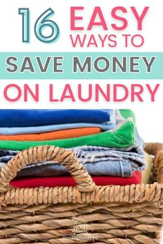16 simple ways to save money on laundry! Laundry tips | laundry hacks | frugal living tips | best laundry money saving tips | money saving laundry ideas | frugal laundry routine | laundry tricks and tips to save money #handlinghomelife Ways To Save Money, Money Tips, Money Saving Tips, How To Make Money, Laundry Schedule, Laundry Hacks, Frugal Living Tips, Frugal Tips, Doing Laundry