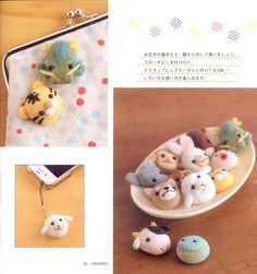 《Felt Wool Lucky Charm》- Japanese craft book