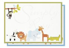 5x7 Printvitation™ Kit  'Safari'  Set of 10 by simplyrosy on Etsy, $15.00: 5x7 blank invitations with a separate cardstock backing layer