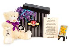 Mother's Day is this Sunday, May 8th. Order a gift mom will cherish for years. Hugs is the softest, plushest, most cuddly teddy bear you will ever meet . We also feature a wide variety of delicious sweets and heartfelt gifts to send with him to create a unique gift for your mom.  Order now to get your Hugs Box in time for Mother's Day!  www.hugsomeone.com