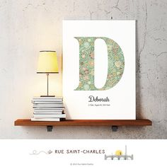 baby nursery art monogram logo personalized by RueSaintCharles