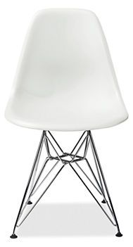 Charmant Eames® Molded Plastic Side Chair With Wire Base In White By Herman Miller®  Stocked