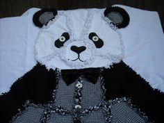 PANDA RAG QUILT  Childs Rag Quilt Keepsake by TheNeedleNPinsPrject, $85.00
