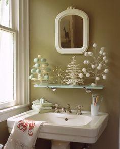 Árboles de Navidad en el baño