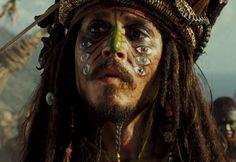 """Johnny Depp en """"Piratas del Caribe: El cofre del Hombre Muerto"""", 2006"""