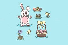 Easter set by MarioMovement on Creative Market