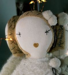 new Jess Brown Snowflake dolls at Lapin & Me