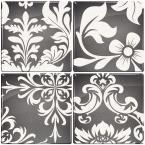 3-11/16 in. x 3-11/16 in. Versailles Gel Tile Gray Backsplash (4-Piece)