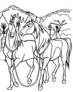 spirit and lucky coloring page | malvorlagen pferde