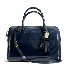 Coach  LEGACY PINNACLE LARGE HALEY SATCHEL IN POLISHED CALF LEATHER WITH FELT