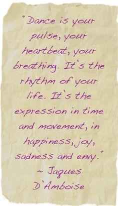 From Elyse Falzone, dance teacher