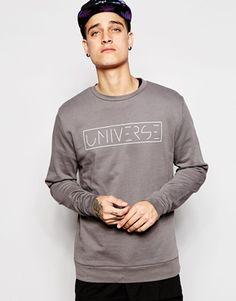 ASOS Sweatshirt With Universe Print