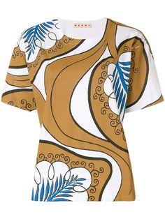 MARNI patterned blouse. #marni #cloth #