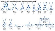 Official Meissen porcelain cobalt blue underglaze factory marks