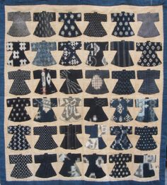 One of the most beloved things sold at Blue & White are the small quilts and hangings by Reiko Inaba. She uses vintage mosquito netting, kasuri and other fabrics to turn out her charming kimono and fish quilts, something she started doing as cancer therapy.