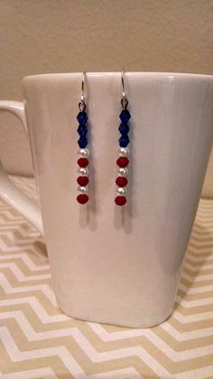 Hey, I found this really awesome Etsy listing at https://www.etsy.com/listing/218557926/red-white-blue-usa-drop-dangle-patriotic