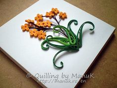 Back to the Basics I - Quilled Little Yellow Flowers