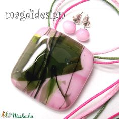 Málnabokor üvegékszer szett, nyaklánc, pötty fülbevaló (magdidesign) - Meska.hu Diy, Bricolage, Do It Yourself, Homemade, Diys, Crafting