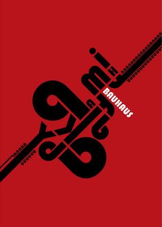 Andreas Xenoulis Tribute to Bauhaus Creative Poster Design, Design Poster, Creative Posters, Typography Letters, Graphic Design Typography, Lettering, Poster Fonts, Typographic Poster, Poster Design Inspiration