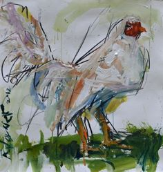 Rooster Artwork, painting by artist Robert Joyner