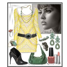 Love Story, created by ghsdrummajor on Polyvore featuring the Stella & Dot - Capri Chandelier Earrings in Turquoise